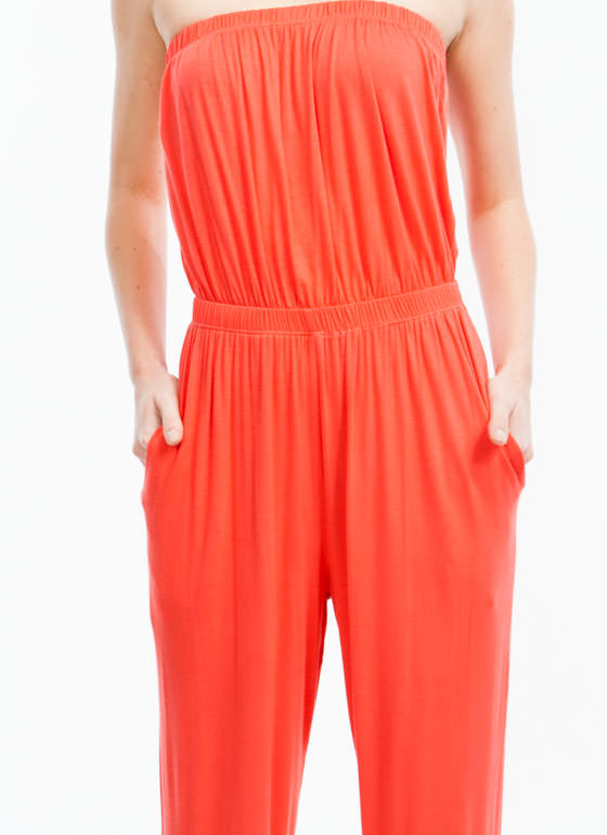 Tube Of A Kind Jumpsuit CORAL