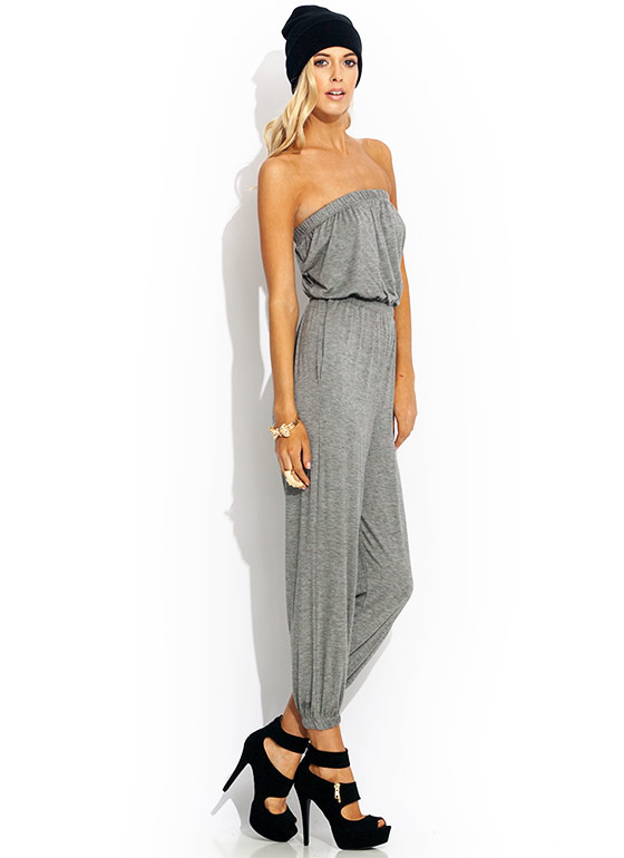 Tube Of A Kind Jumpsuit GREY