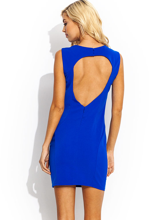 Burst Into Tear Cut Out Dress COBALT