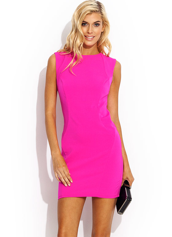 Burst Into Tear Cut Out Dress PINK