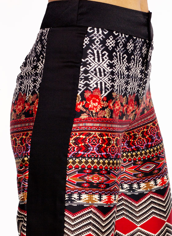 Hit Print Tribal Palazzo Pants REDBLACK (Final Sale)
