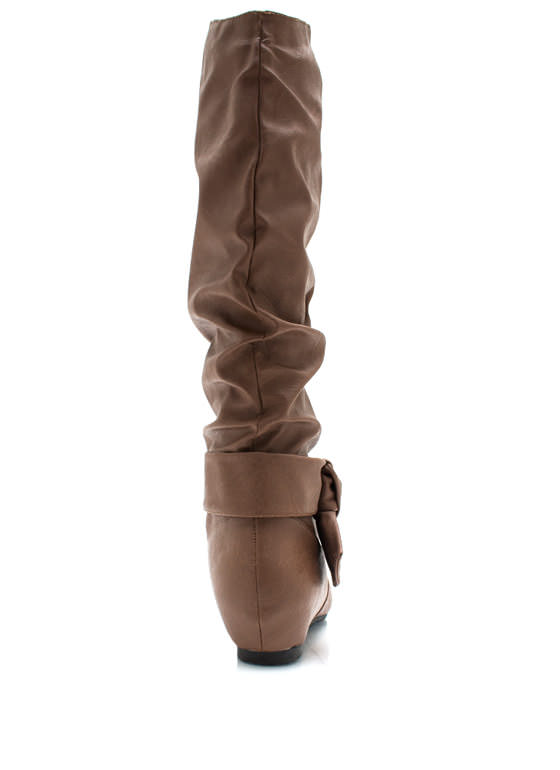 Fit To Be Tied Slouchy Boots COGNAC