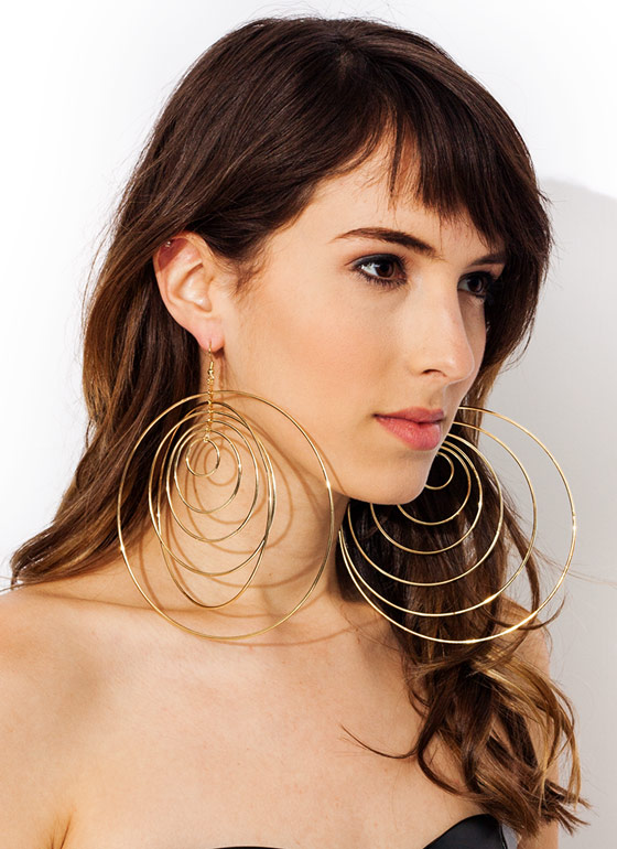 Circle Of Trust Oversized Earrings GOLD