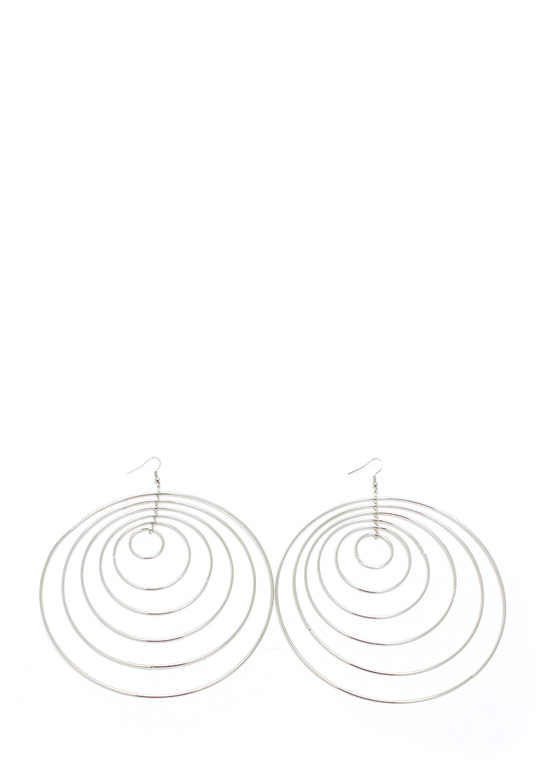 Circle Of Trust Oversized Earrings SILVER