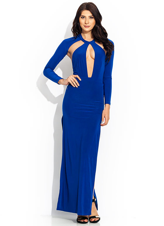A Cut Above Open Back Maxi ROYAL