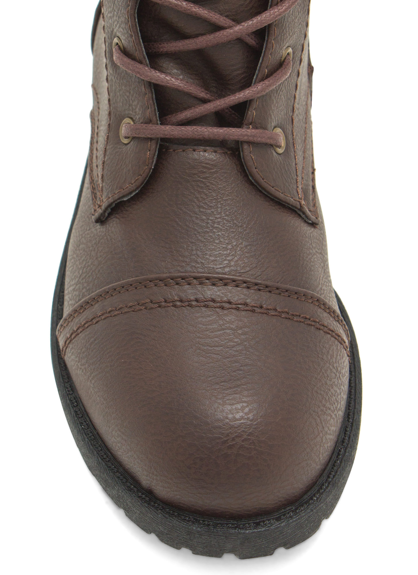 Plain Janes Lace Up Boots BROWN