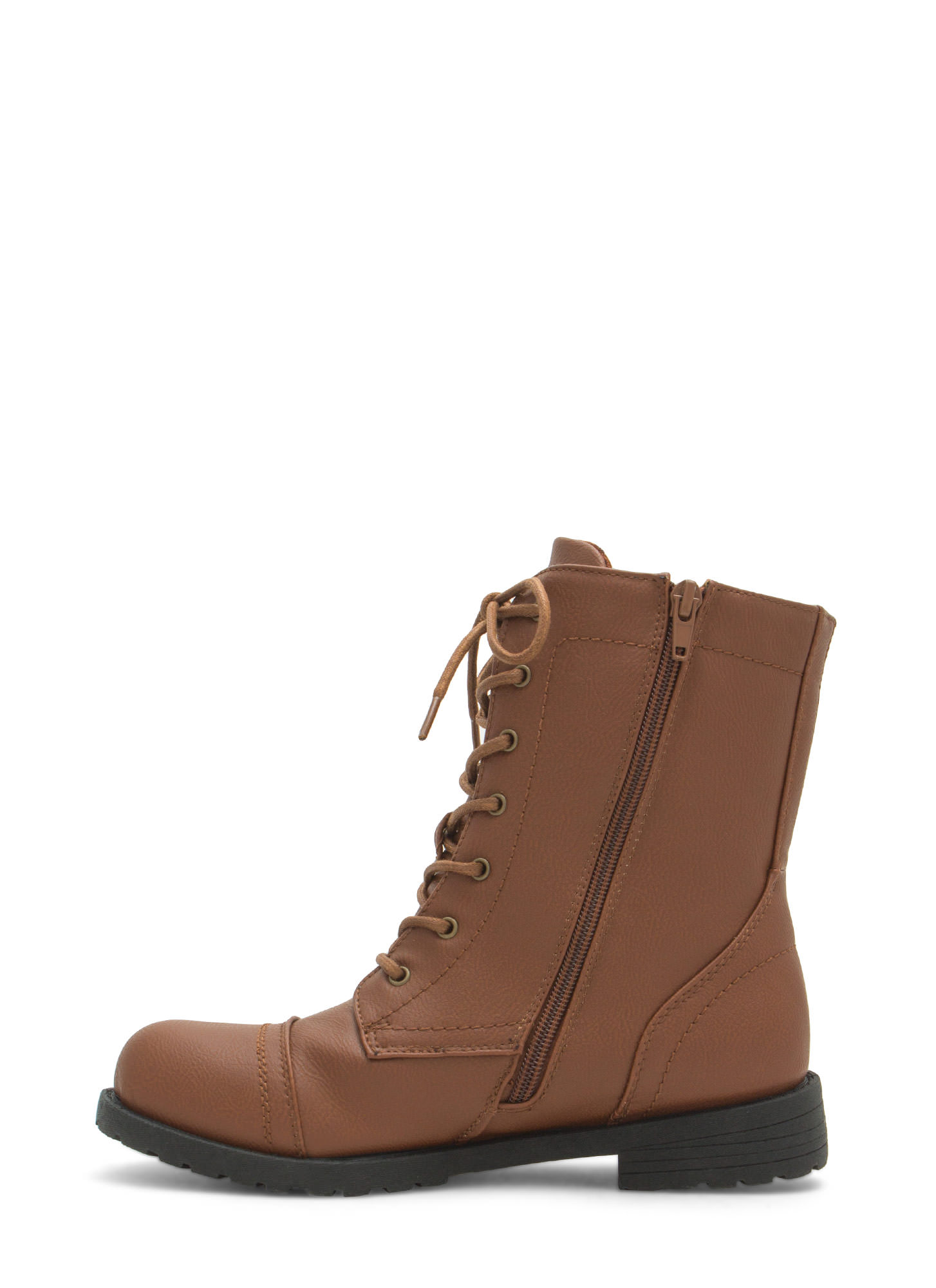 Plain Janes Lace Up Boots WHISKY (Final Sale)