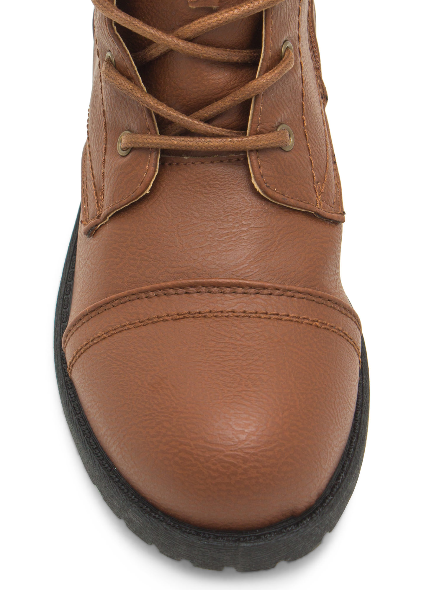 Plain Janes Lace Up Boots WHISKY