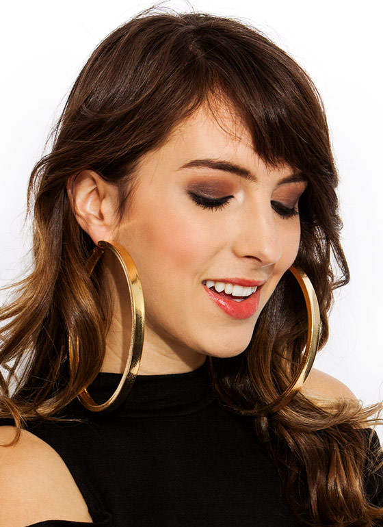 Hoop Dreams Oversized Earrings GOLD