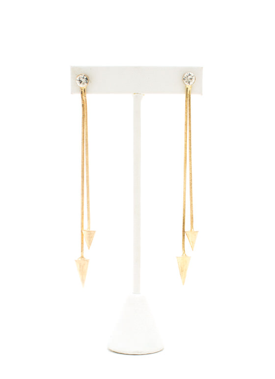 Going Down Cone Chain Earrings GOLD
