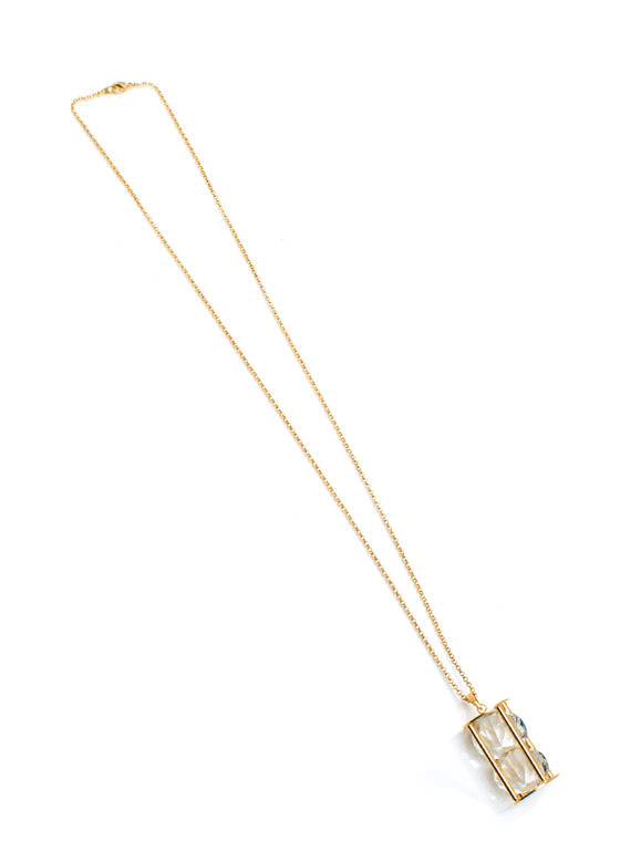 Hypnotize Me Charm Necklace GOLDCLEAR