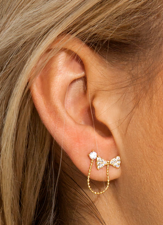 Triple Threat Earrings GOLD