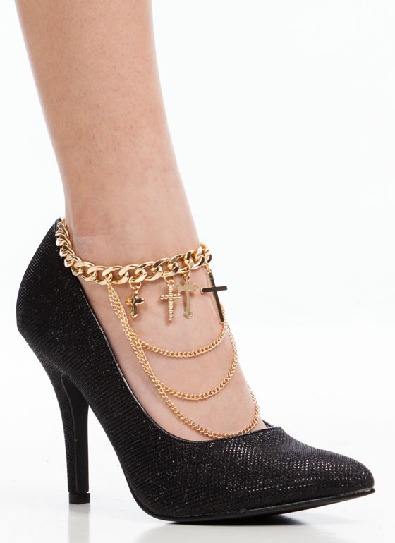 Dont Be Cross Anklet GOLD