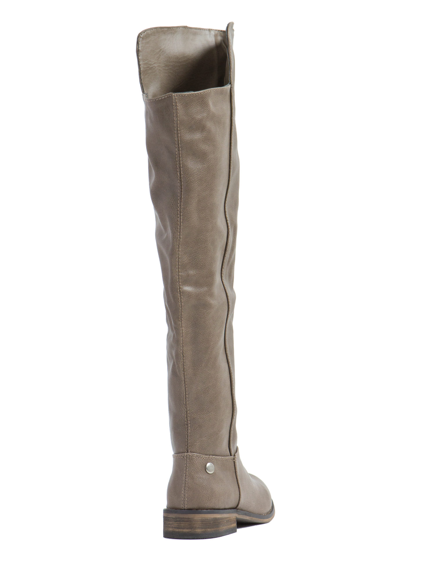 Higher And Higher Riding Boots BEIGE