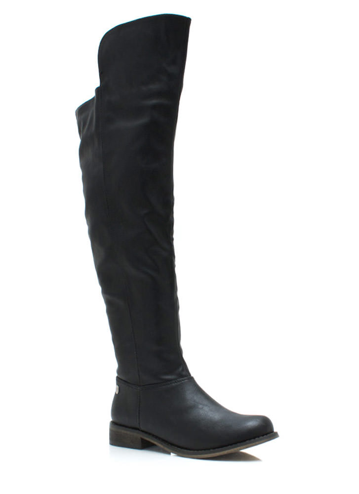 Higher And Higher Riding Boots BLACK