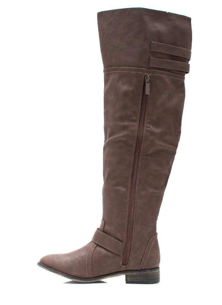 Strapped And Ready Riding Boots LTBROWN