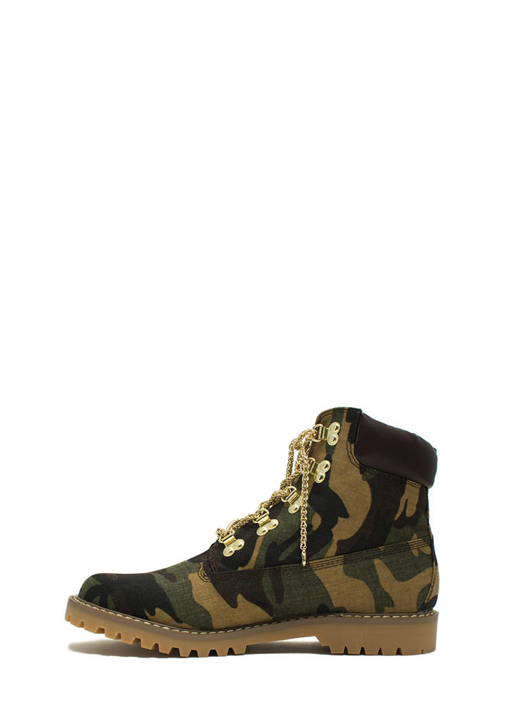 Chain-ge Of Pace Work Boots CAMOUFLAGE