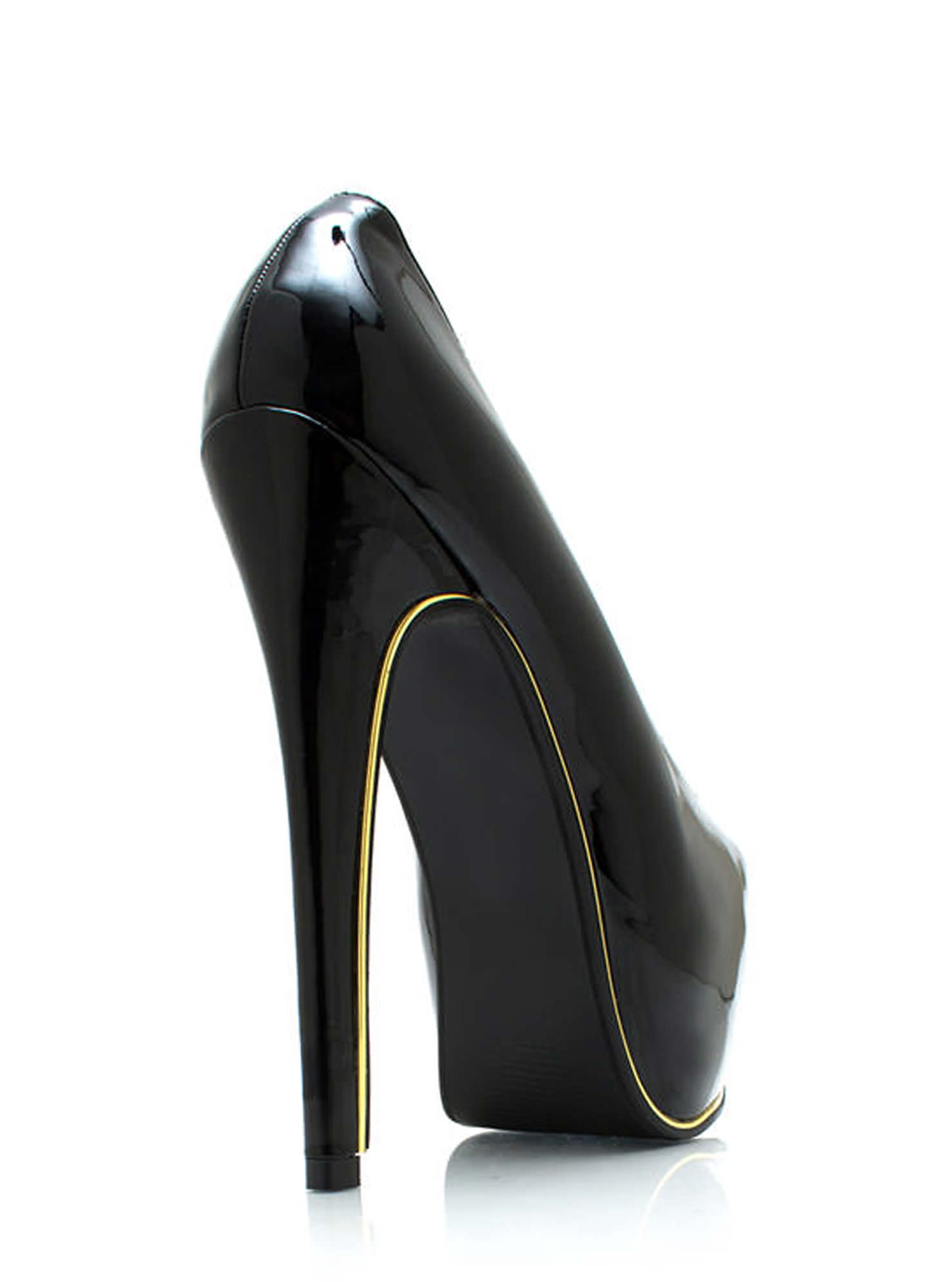 On The Edge Platform Pumps BLACK