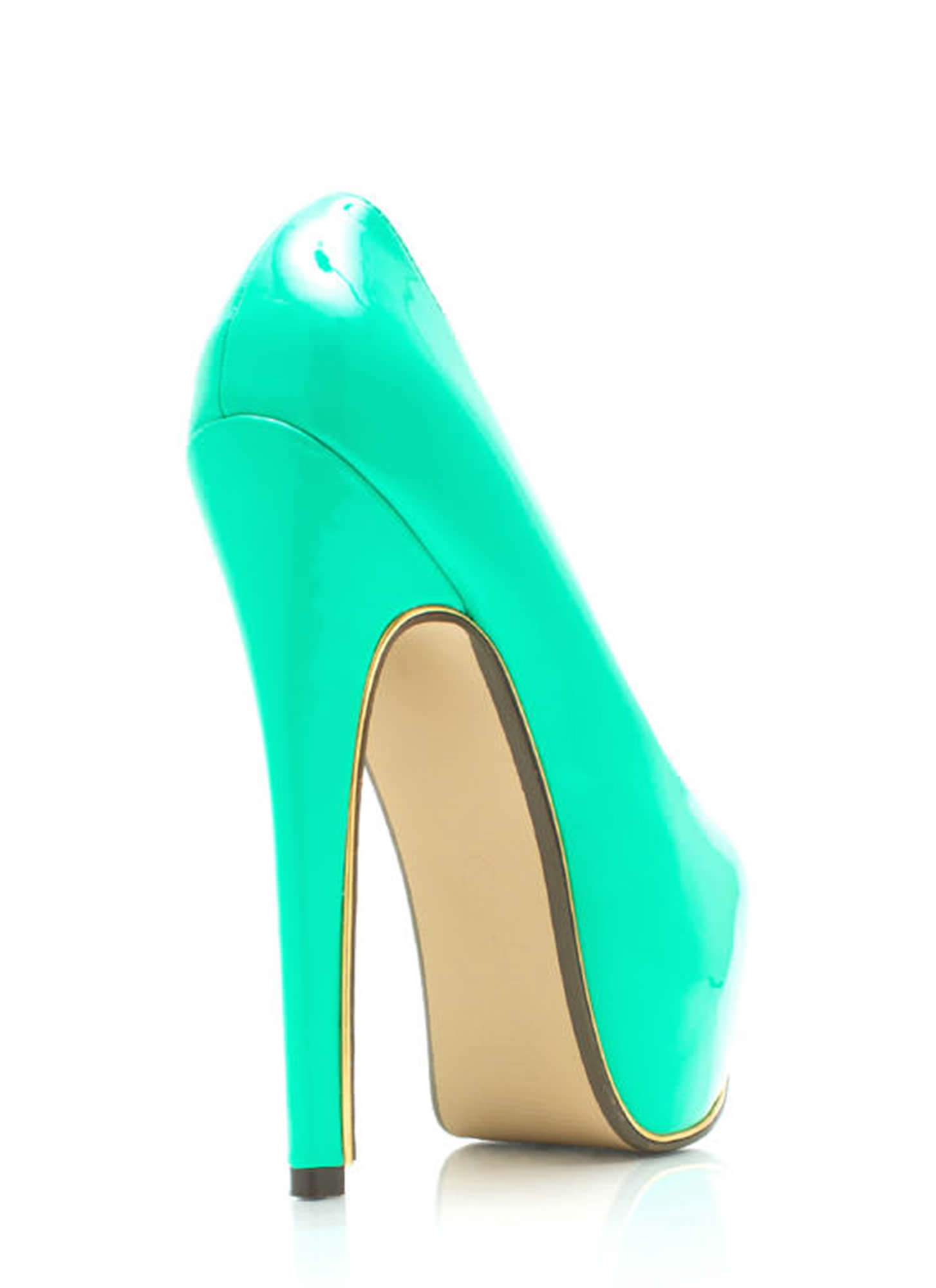 On The Edge Platform Pumps MINT