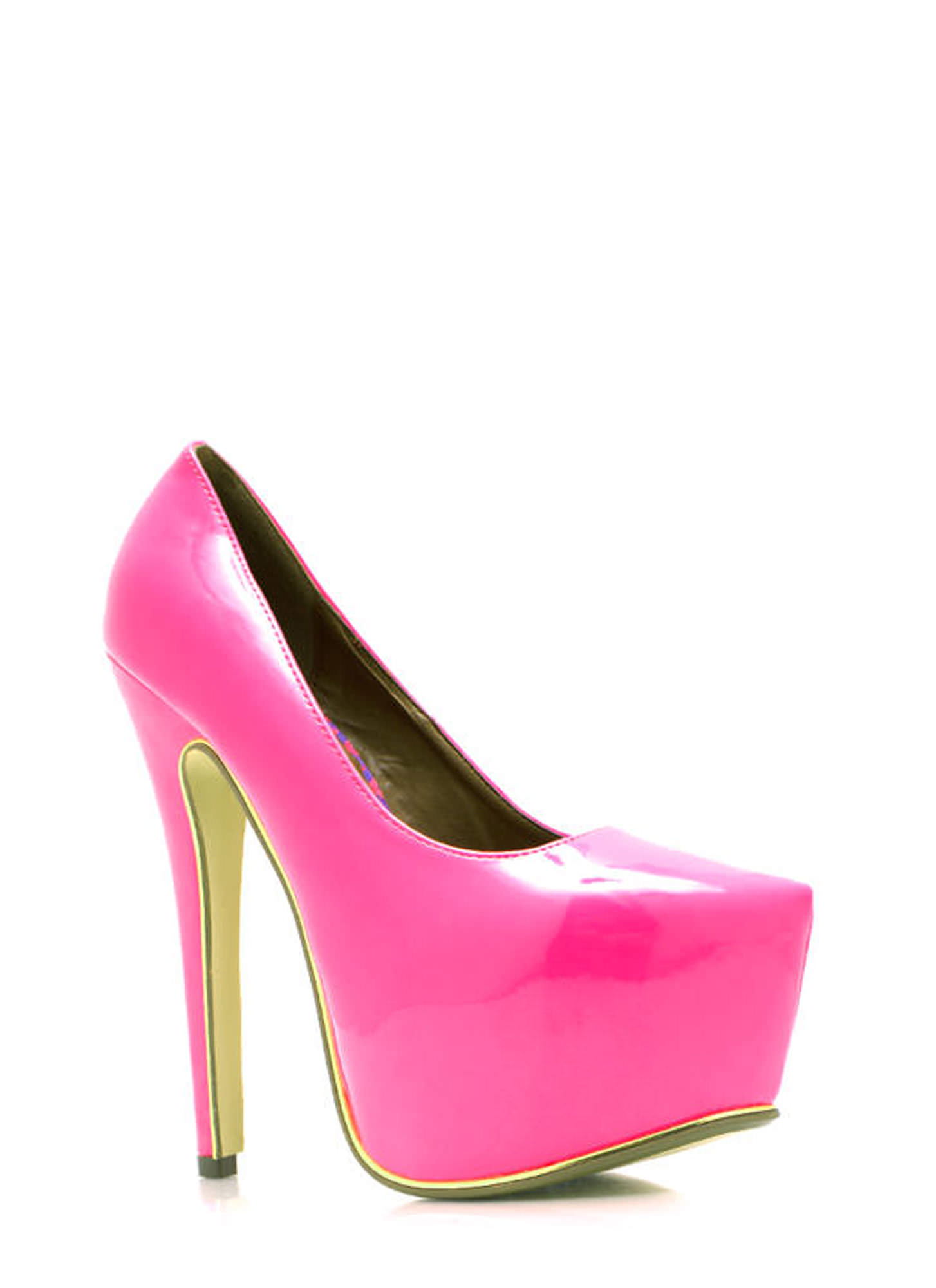 On The Edge Platform Pumps PINK (Final Sale)