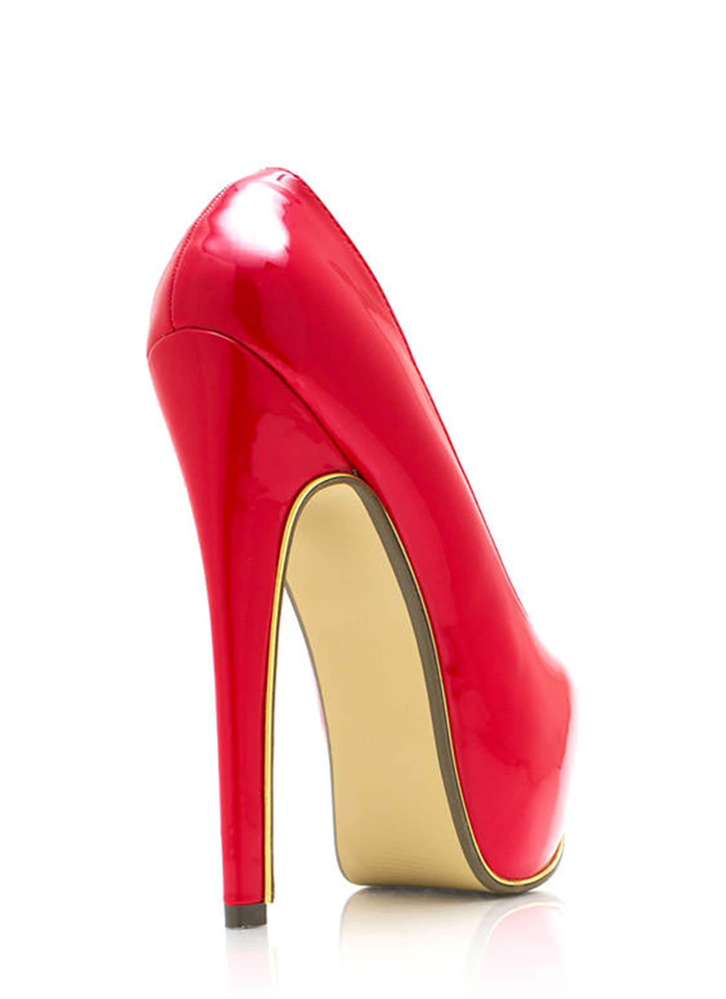 On The Edge Platform Pumps RED