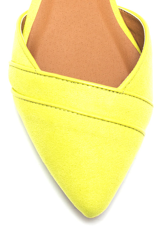 Double Wrap Pointy Flats LEMONLIME