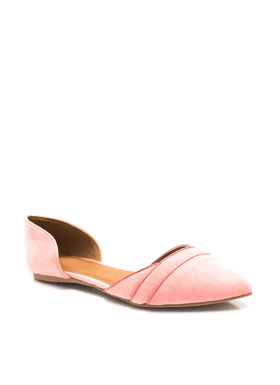 Double Wrap Pointy Flats SALMON