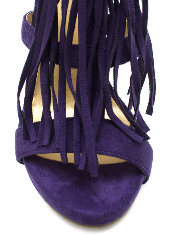 On The Fringe Heels PURPLE