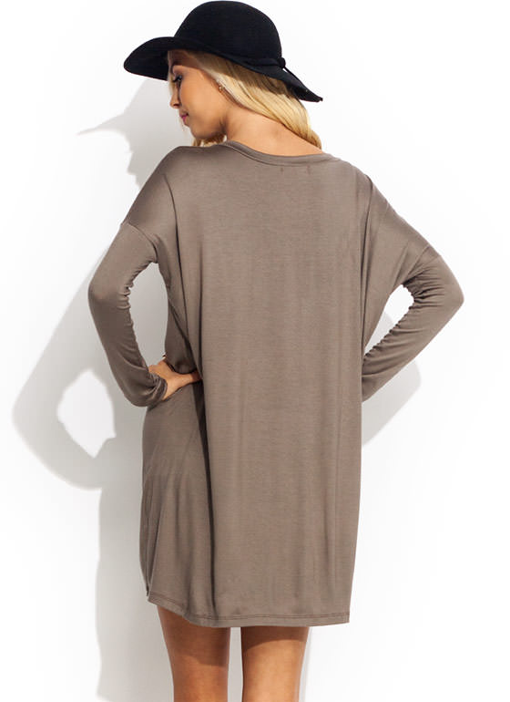 Great Wide Way Shirt Dress KHAKI
