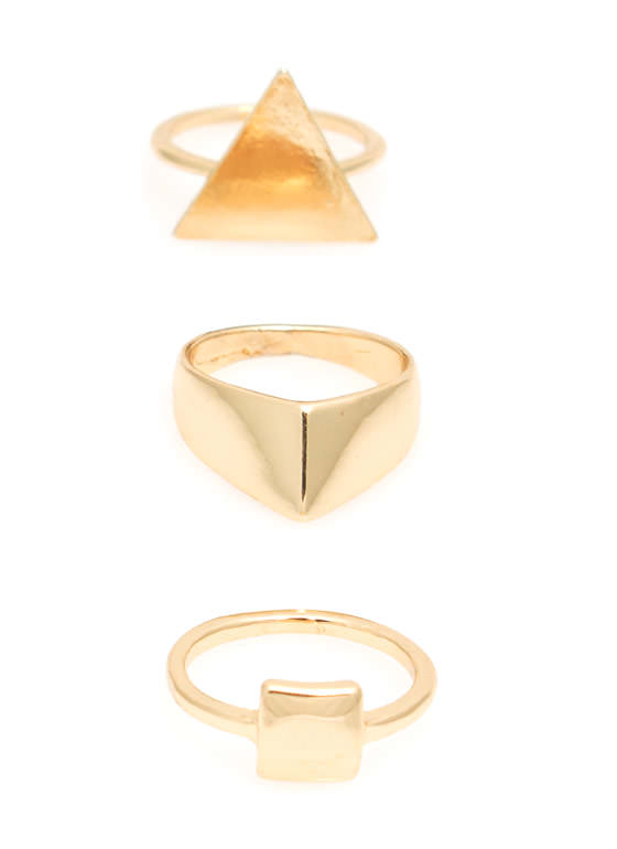 Get In Shape Three Ring Set GOLD