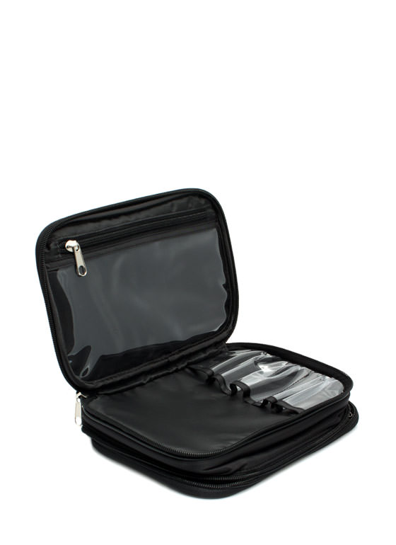 NYX Large Double Zipper Makeup Bag BLACK (Final Sale)