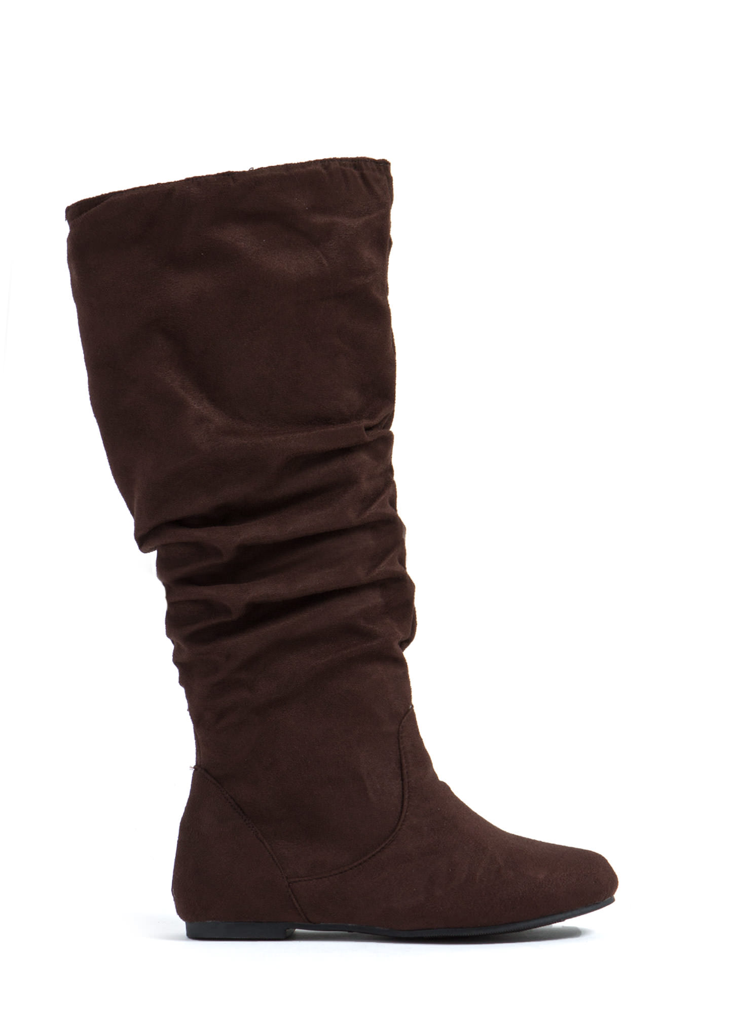 Basic Babe Faux Suede Boots BROWN