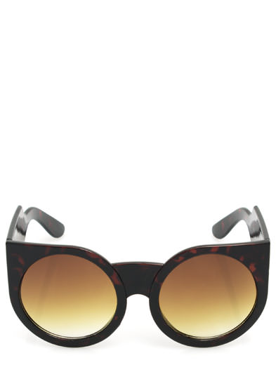 Chunky Exaggerated Round Sunglasses DKTORT