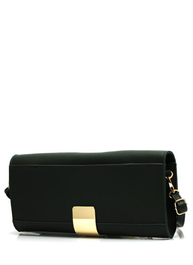 Its A Wrap Faux Leather Clutch OLIVEGOLD