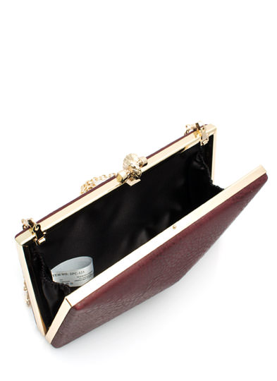 Hard Case To Crack Clutch BURGUNDY