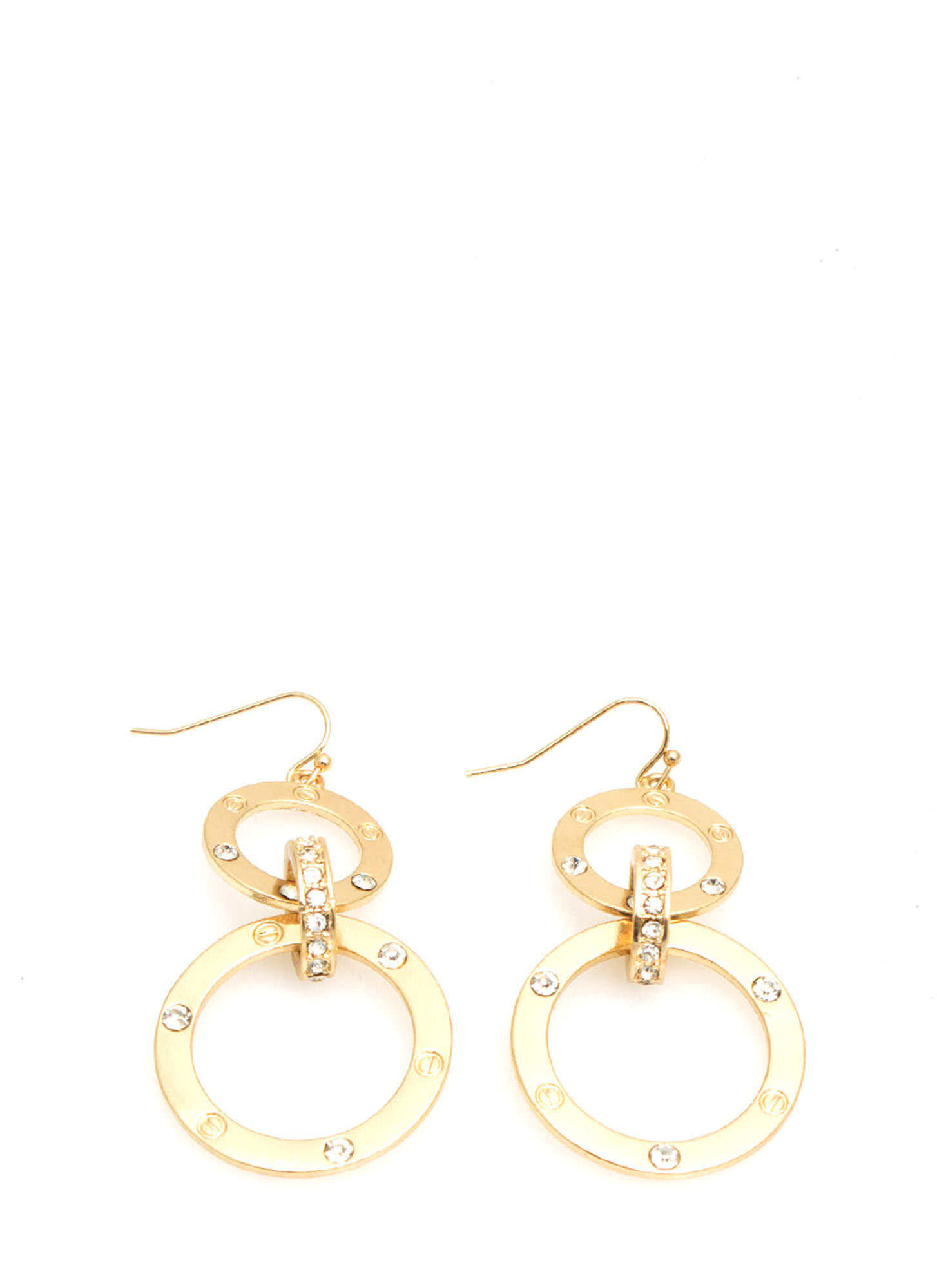 Riveting Circle Earrings GOLD  (Final Sale)