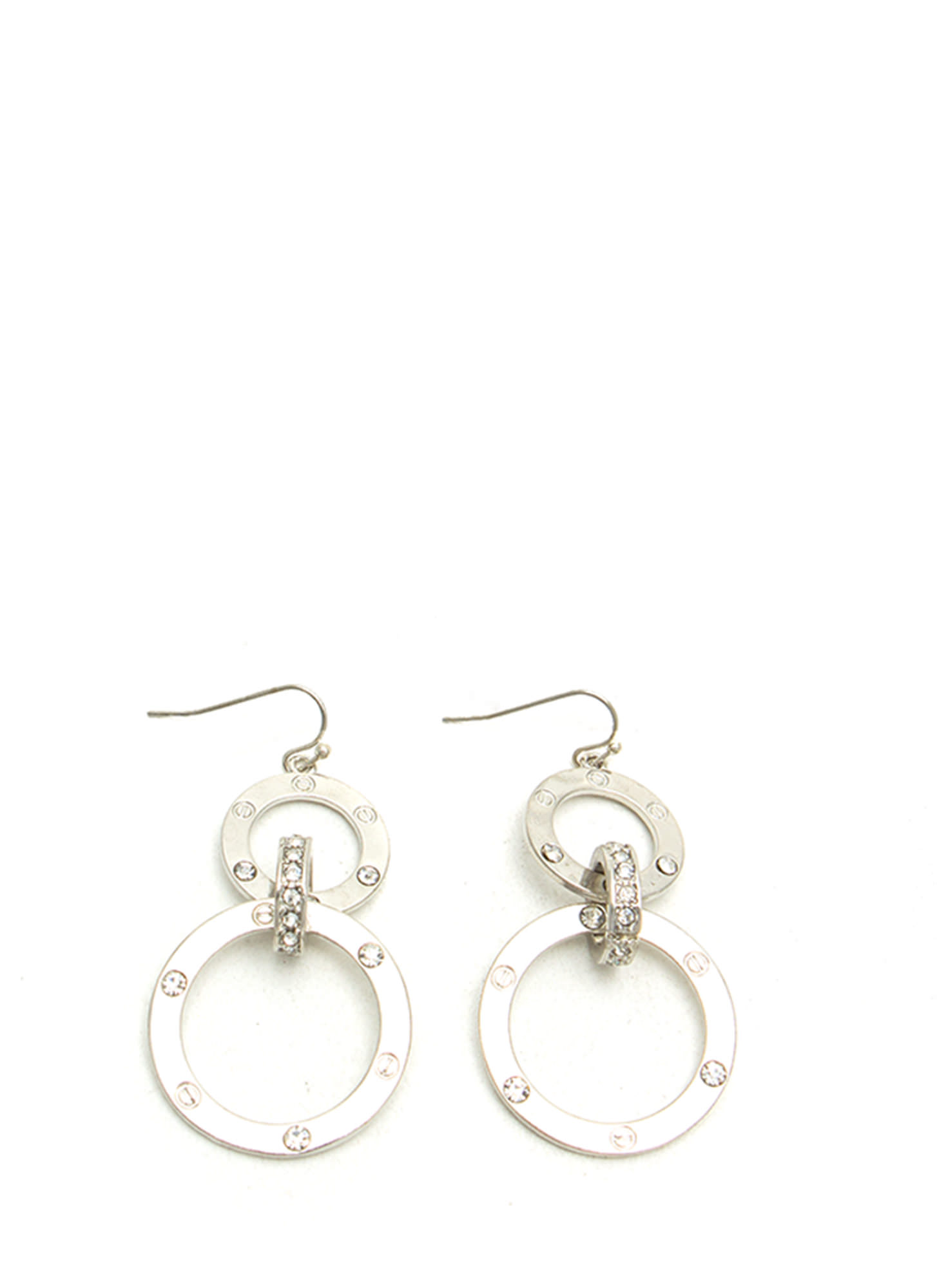 Riveting Circle Earrings SILVER