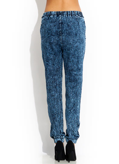 Bringing Back Acid Wash Jogger Pants BLUE
