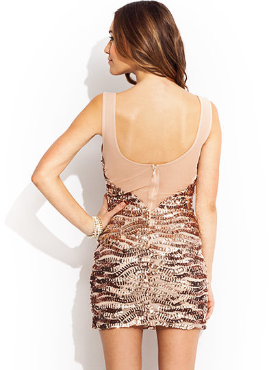 The Right Sequence Mini Dress ROSEGOLD