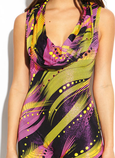 Abstract Brushstrokes Hooded Romper PINKYELLOW