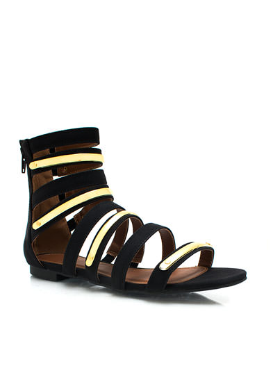 Plating Around Gladiator Sandals BLACK