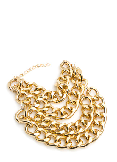 Chunk Of Chain Ankle Bracelet GOLD