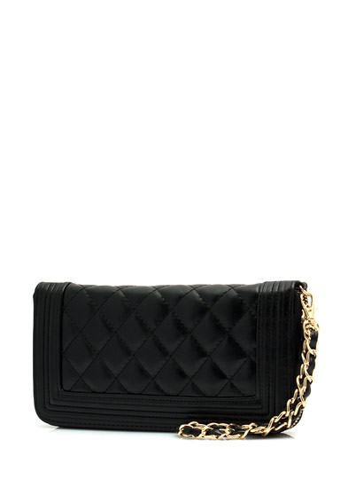 Frame It Quilted Wallet Clutch BLACK