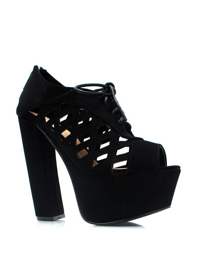 Feel My Pane Chunky Platforms BLACK