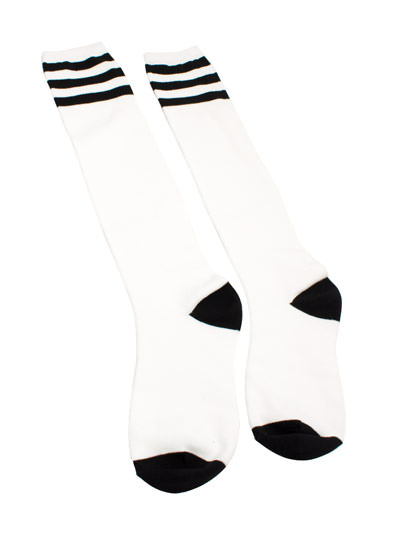 Varsity Knee-High Socks WHITEBLACK