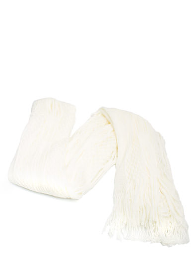 Netted Tube Knit Scarf IVORY (Final Sale)