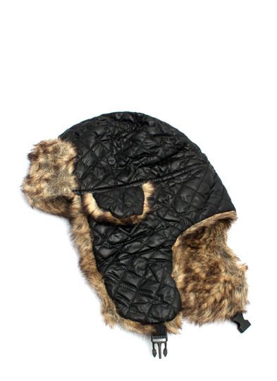 Quilty Pleasure Woolly Trapper Hat BLACK