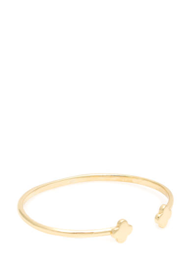 Petal Pusher Open Bracelet GOLD