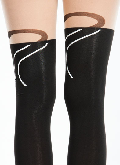 Cats Meow Stockings  NUDEBLACK