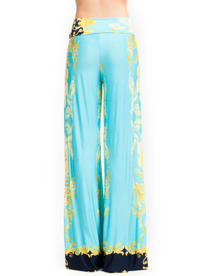 Shell Baroque Palazzo Pants YELLOWTURQ